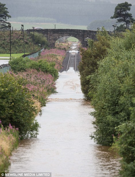 Flooding on the main Aberdeen to Inverness railway line means trains have been unable to run