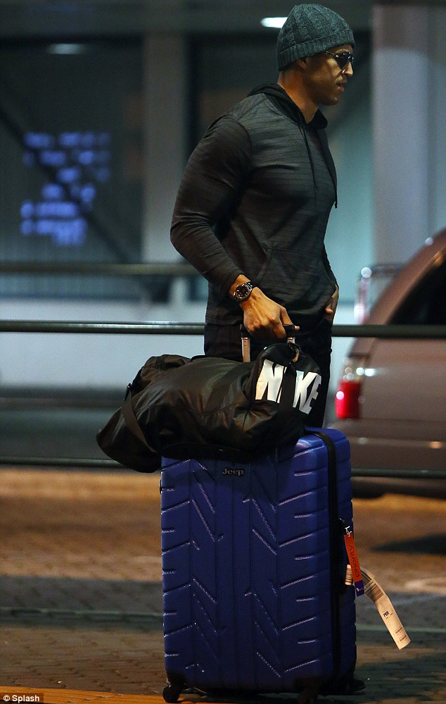 Keeping it on the down low: With the show still airing on Channel Ten, the bachelor travelled solo so as not to give away whether he finds his lady love by the end of the series