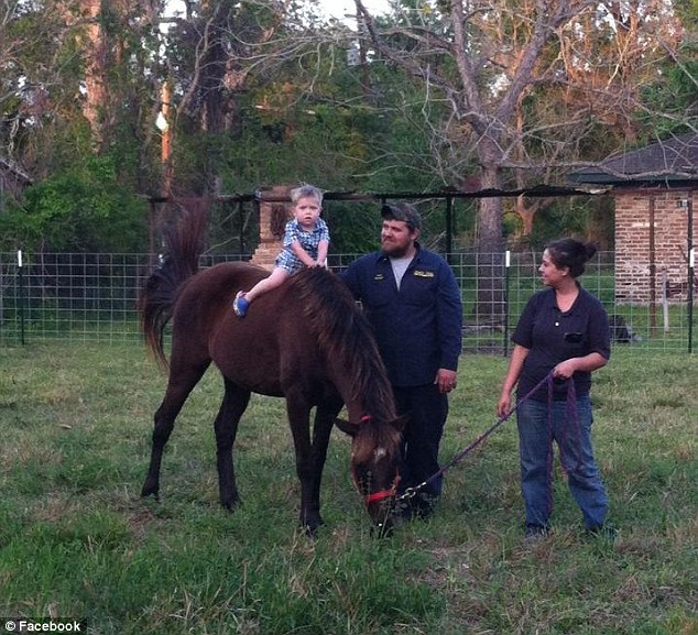 Little helper: The little boy loved to help his dad with the horses; it's believed he made a sudden movement which spooked one of them, and it kicked him in the chest