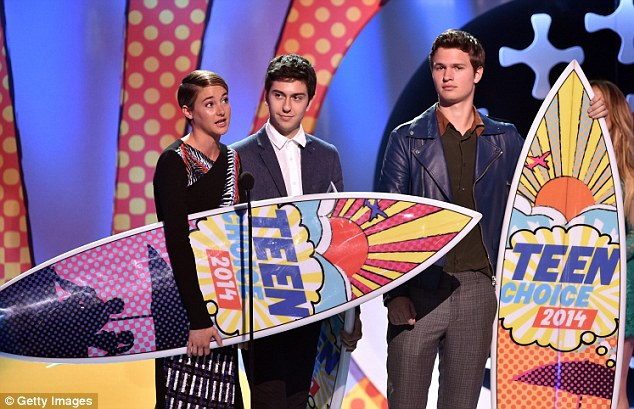 The big winner: The Fault In Our Stars was the undeniable hit of the 2014 Teen Choice Awards which took place at LA's Shrine Auditorium on Sunday night