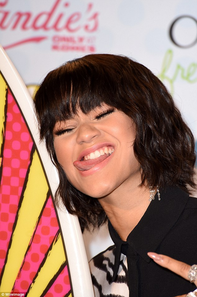 Hitting all the right notes: Nickelodeon star Zendaya Coleman was rocking a chic new wavy bob as she hit the carpet, pulling a face as she posed with her award for Candie's Choice Style Icon