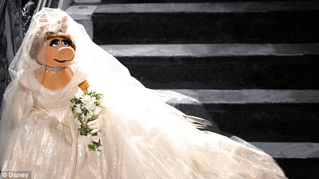 Here comes the bride: Miss Piggy in the Vivienne Westwood designed dress
