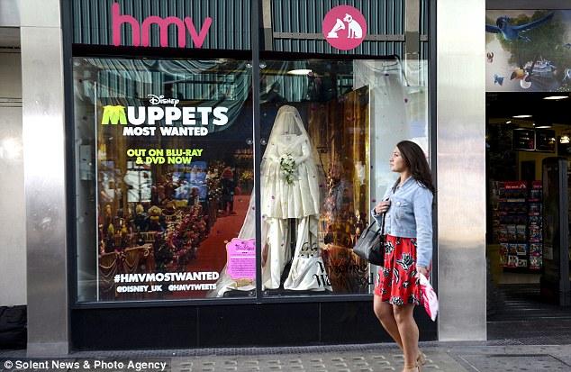 Muppet memorabilia: The dress will be in London's Oxford Street HMV store window for one week only