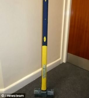 Horrific: These are the weapons that the trio wielded as they broke into homes across the Midlands
