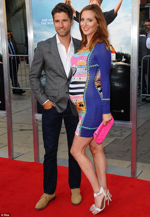 The proud parents: Eva with Kyle Martino in LA in June; she's an actress and he's an NBC sports analyst
