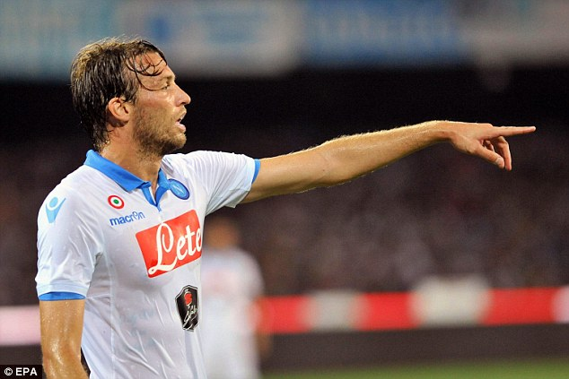 Big miss: Michu has left Swansea City for a season-long loan spell at Serie A side Napoli