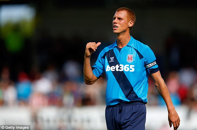 New arrival: Sidwell signed for Stoke this summer on a free transfer from Fulham after being released