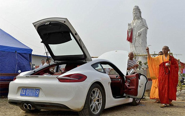 The businessman himself declined to comment and the monks said that blessing means of transportation has always been part of their Buddhist tradition and there was nothing wrong with agreeing to pray that the man's Porsche delivered him safely after each journey