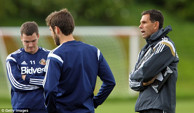 Working hard: Sunderland boss Gus Poyet is determined to have the players ready for the new campaign