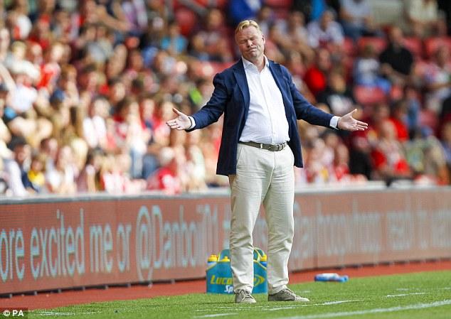 Signing: Saints boss Ronald Koeman (pictured) wants a proven Premier League striker