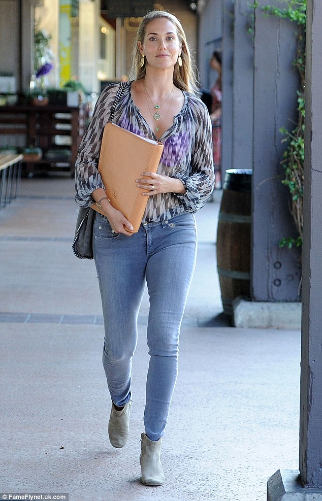 Working mother: Berkley was spotted leaving a business lunch in Brentwood on August 9