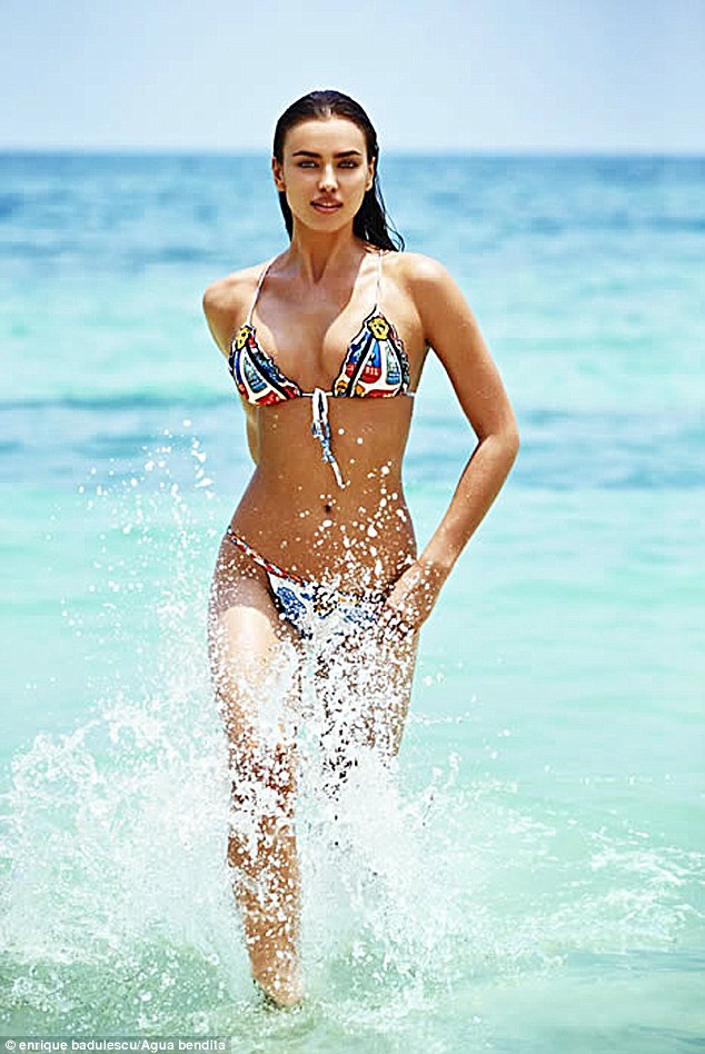 Making a splash! The brunette beauty certainly looks impressive in the new campaign