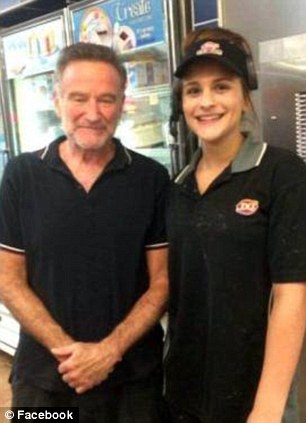 One of his last photographs: This photograph of Robin Williams was taken in July at a local Dairy Queen in Minnesota during his stay at a rehabilitation facility which he checked himself into for treatment for alcohol addiction