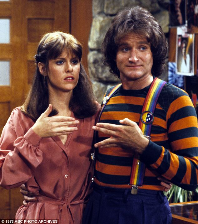 Rising star: Robin Williams' work in Mork & Mindy first made the Chicago native a household name