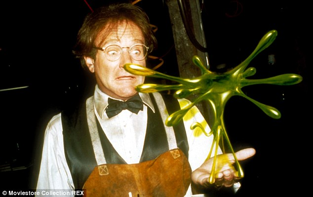 Comedic: The funny man starred as an absent minded professor in Flubber in 1997