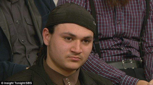 Abu Bakr, 19, appeared on the SBS Insight episode due to be shown on Tuesday night