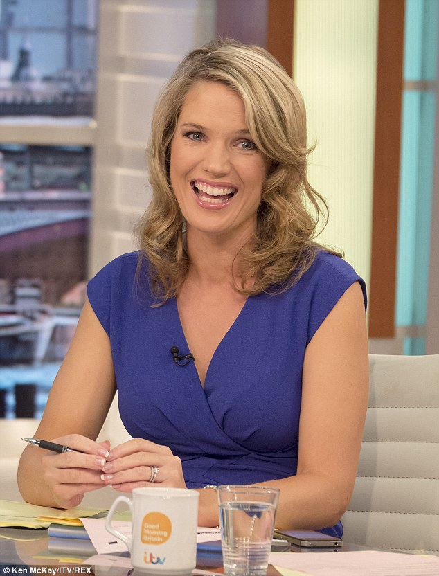 First baby: Charlotte, who joined the new presenter line-up in April will have her first child in February after announcing the news to her co-presenters