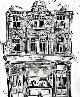 Talent: Binky's sister is selling her works of art, which feature popular Chelsea haunts, on Easyart