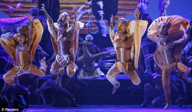 Stage success: Lion King is Broadway's fourth longest-running show and last year became the highest-grossing show, hitting the one billion mark
