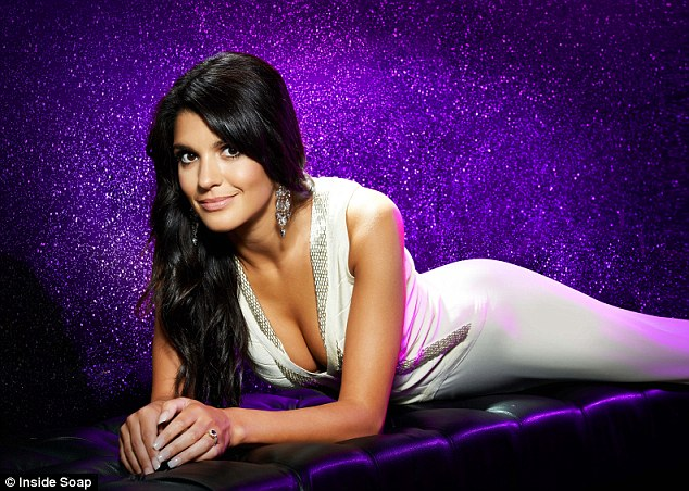 'Not so sexy': Natalie Anderson poses for Inside Soap magazine as she's nominated in their Soap Awards as Sexiest Female, though she tells them she's a bit embarrassed at the thought
