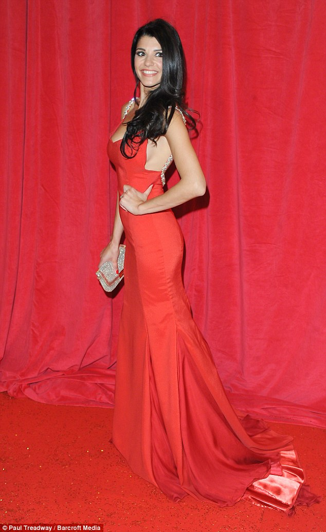 Lady in red: Natalie has twice been nominated as Sexiest Female at the British Soap Awards