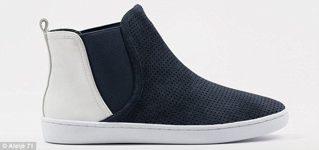 Casual comfort: Designers cited inspirations from iPod design to Frank Gehry's architecture as their inspirations for the sleek shoes