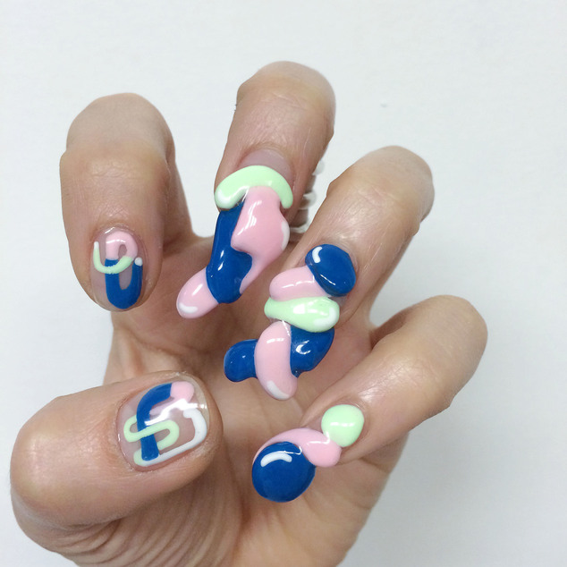 Modern art: Five new trends in nail art have emerged, with inventive manicures ranging from $30 to $300. (Pictured: A sculptural fingernail design by Nails By Mei's Miho 'Mei' Kawajiri)