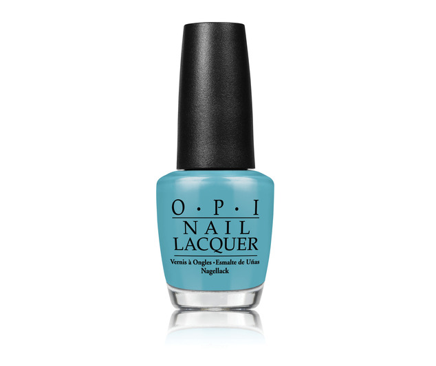 Color palette: The OPI nail lacquer called Find My Czechbook (pictured) is part of the collaboration