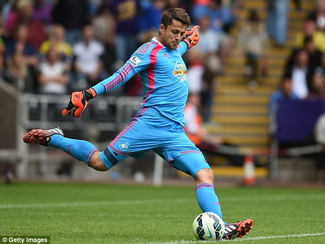 Hoping to kick on:Lukasz Fabianski has left Arsenal for Swansea in search of more game time