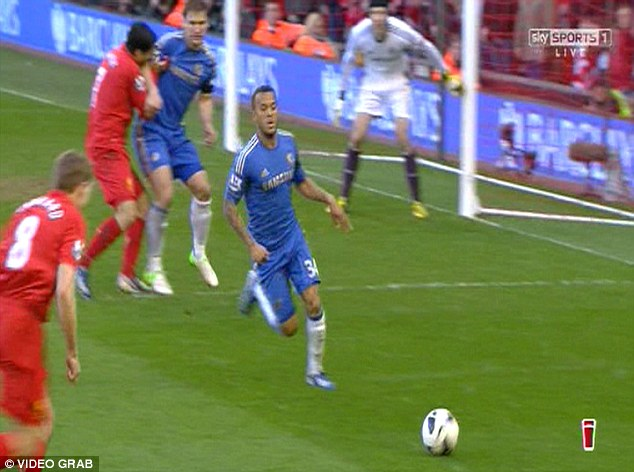 Munch: Suarez (top left) was slapped with a 10-match ban for biting Branislav Ivanovic (top centre) in 2013
