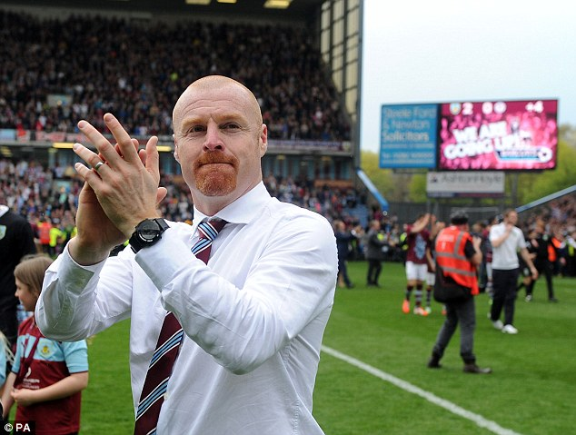 Straight back down? But Sean Dyche and Burnley's stay in the Premier League is expected to be brief