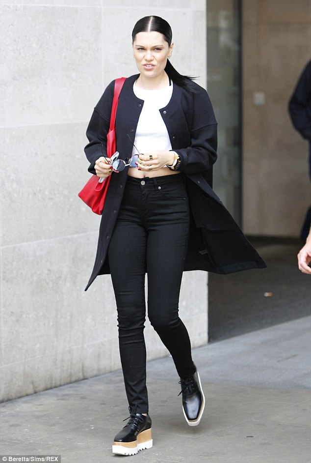 Delicate touches: Jessie added fine silver jewellery to her look