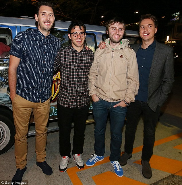 Keeping in character? They said it will be their last ever movie as The Inbetweeners so perhaps that's why James Buckley stayed true to his role of Jay Cartwright when he walked the red carpet on Tuesday night with Simon Bird, Joe Thomas and Blake Harrison in Queensland