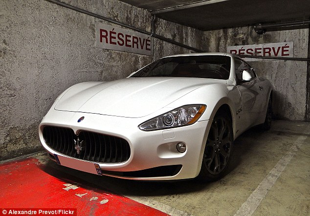 Luxury: The driver will now likely be ordered to paint his Maserati so it doesn't look like a police cruiser