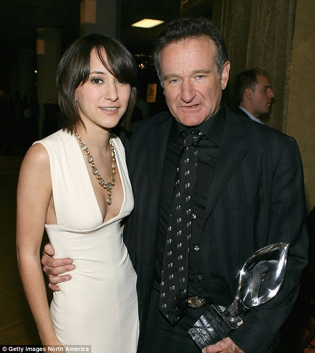 Hurt: Robin Williams' daughter Zelda has been forced off Twitter by internet trolls