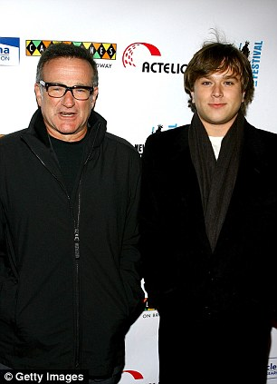 Loss: Robin Williams with his son Cody Williams (pictured in 2007)
