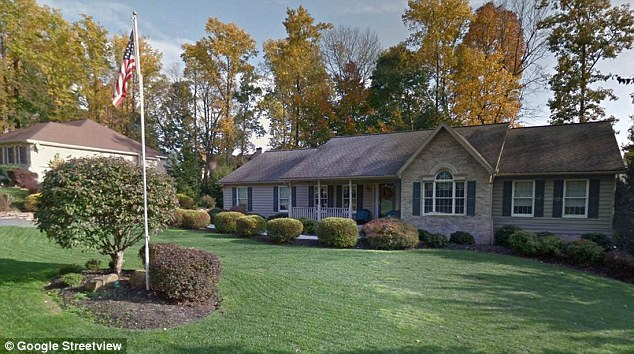 Betrayal: Above, the house Estevez and his wife shared in Bel Air, Maryland according to public records