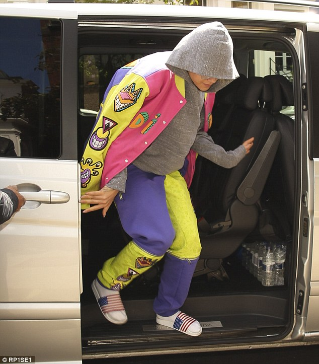 Back on her hometurf: Rita landed back in London on Wednesday morning after flying in from LAX
