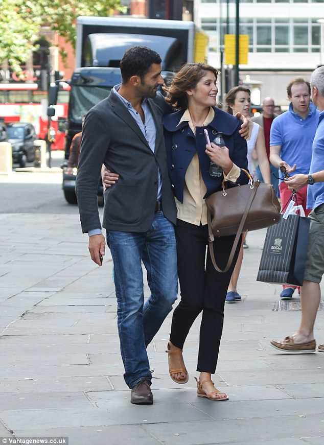 Them against the world: Gemma Arterton and boyfriend Franklin Ohanessi headed to lunch in London last Saturday as she rounded up a morning of filming on the set of A Hundred Streets