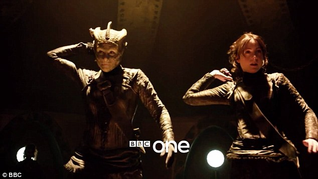 Help is at hand: Madame Vastra and Jenny Flint also make an appearance in Deep Breath