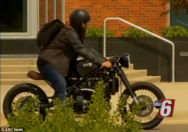 Scott Schraufnagel, from the advertising agency behind the trip, said that because the motorbike (pictured) runs on B-100 bio diesel, there are ¿no hazardous waste materials¿