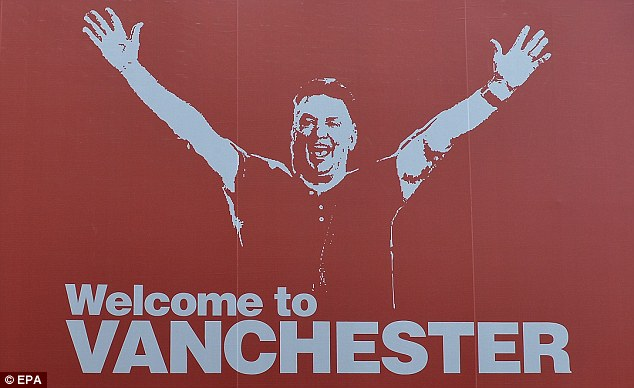 Meet the new boss: The poster that appeared in the centre of Manchester this week