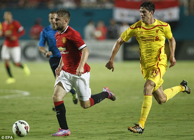 Injury blow: New signing Luke Shaw will miss a month after suffering a hamstring injury