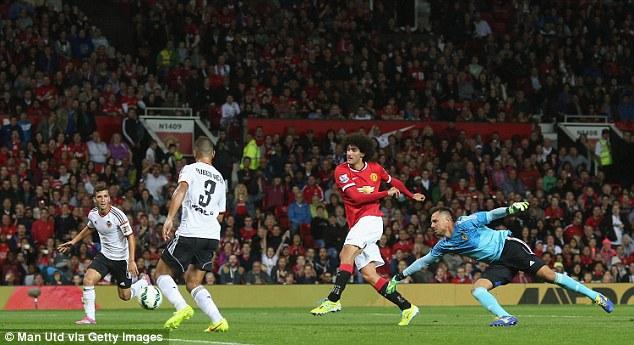 Point to prove: Marouane Fellaini scored the midweek winner against Valencia
