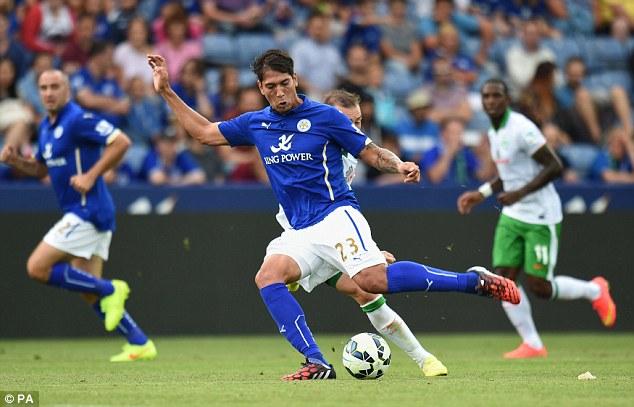 Splashing out: Leicester have bought Brighton's Leonardo Ulloa for £8m
