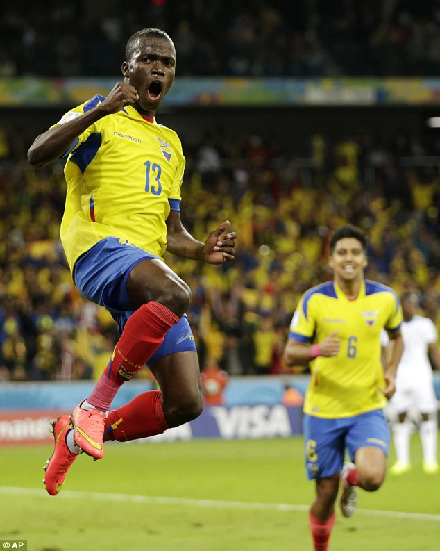 Marquee buy: West Ham have spent £12m on Ecuador's World Cup star Enner Valencia