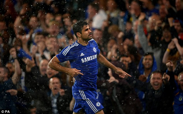 Sharp-shooter: New signing Diego Costa has already been showing the Chelsea fans what he can do