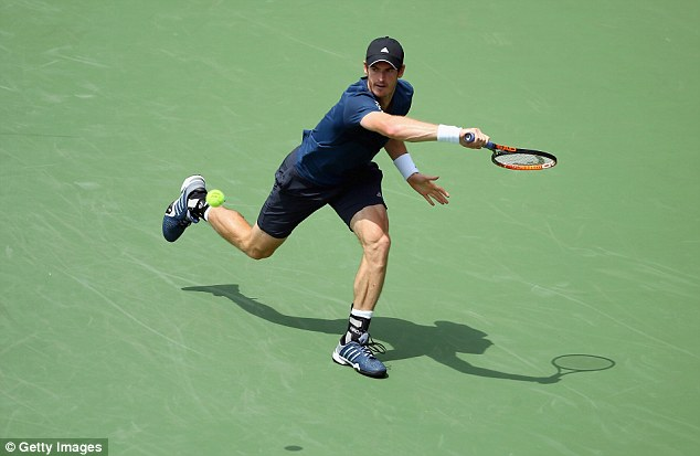 Close call: Andy Murray saved two match points to beat John Isner 6-7, 6-4, 7-6 in Cincinnati
