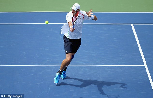 Small margins: Last year's runner-up John Isner only lost his serve once during the close defeat
