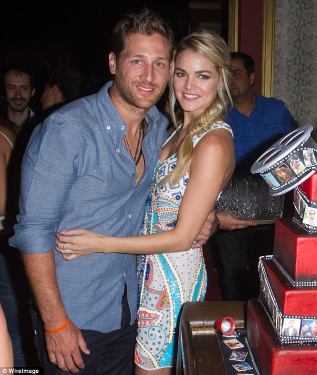 Birthday party: Juan Pablo Galavis celebrated his 33rd birthday last week with Nikki Ferrell at a bash in Miami, Florida